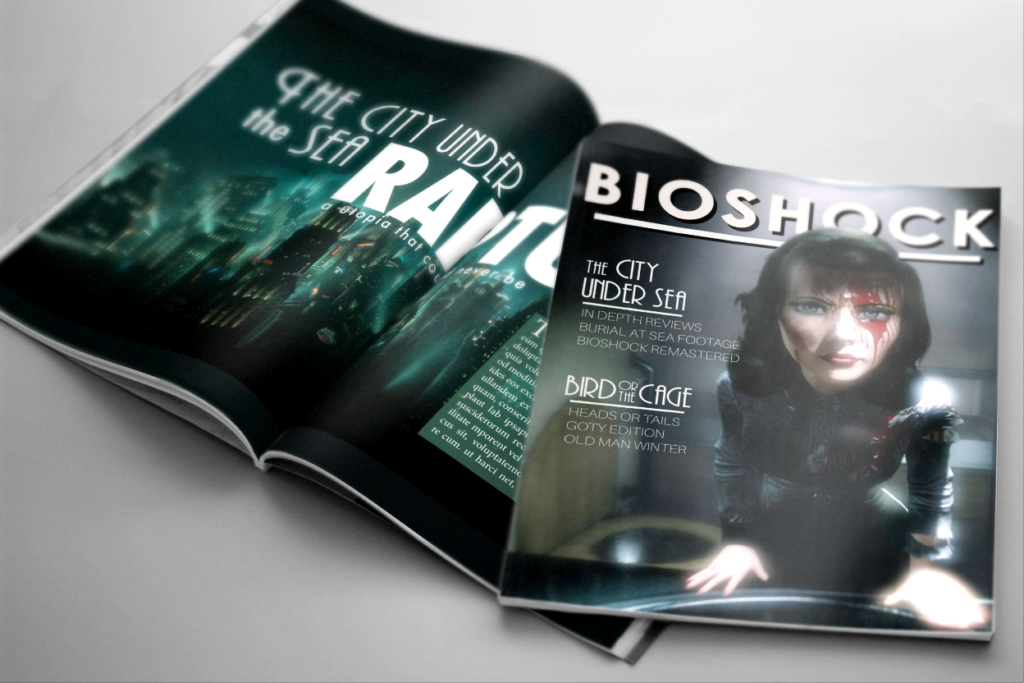 Bioshock Magazine Noah Cheney Graphic Designer